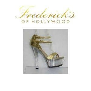 Frederick's of Hollywood Gold Stilleto Platform